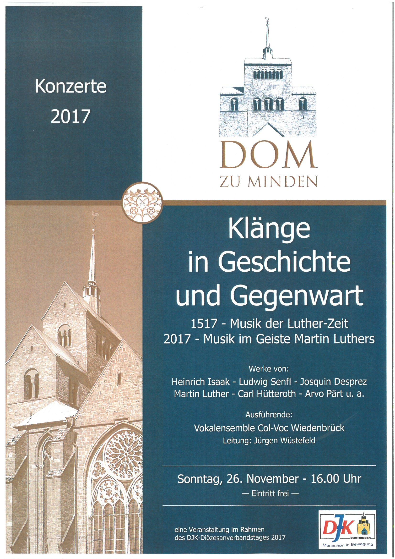 Chorkonzert: Klänge in Geschichte und Gegenwart