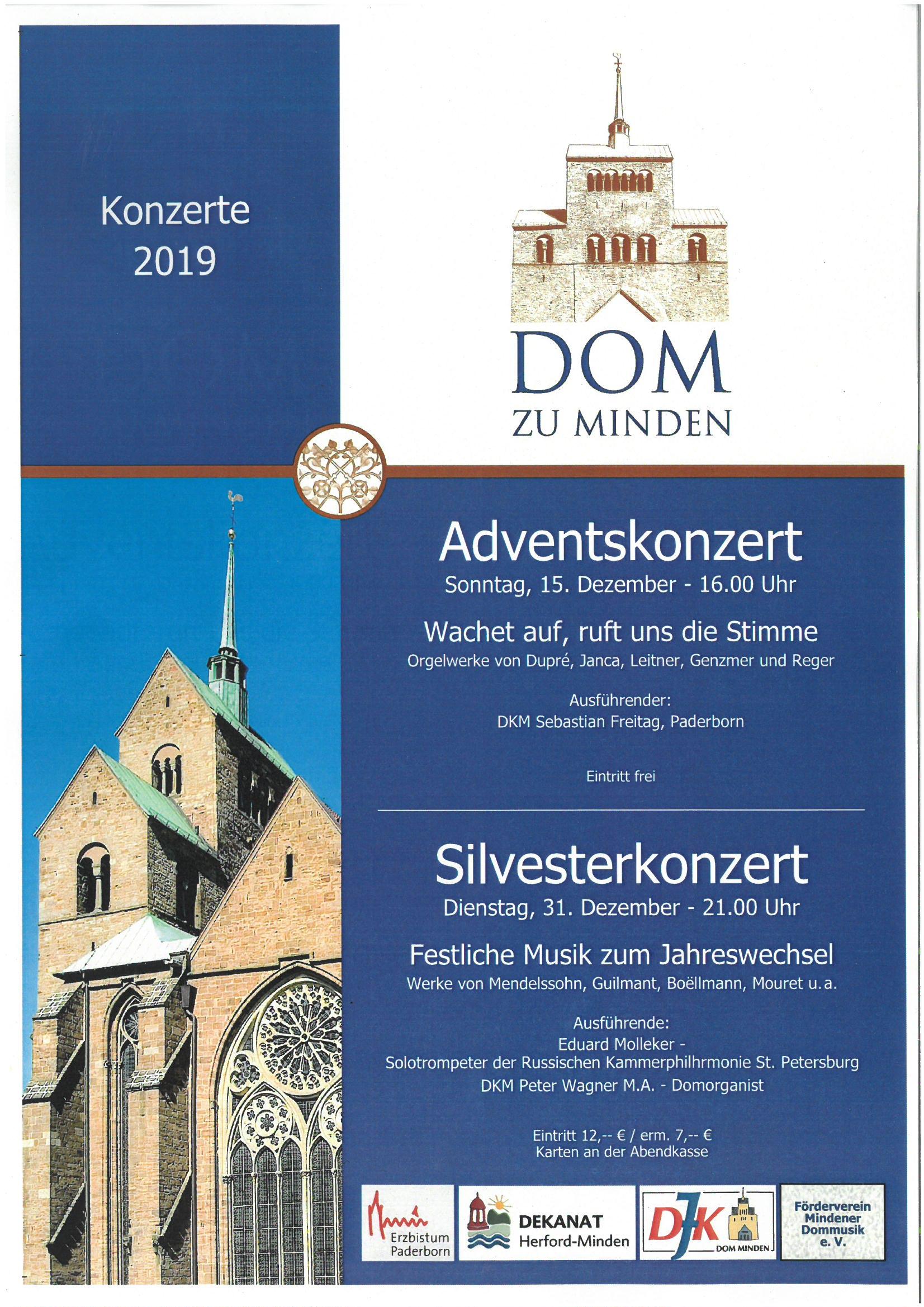 Adventskonzert und Silvesterkonzert 2019